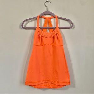 Lululemon | Neon Orange Workout Tank Top